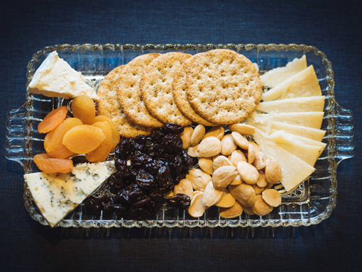 Wanderlust Delicato Cheese plate and Spokane Wine Tasting